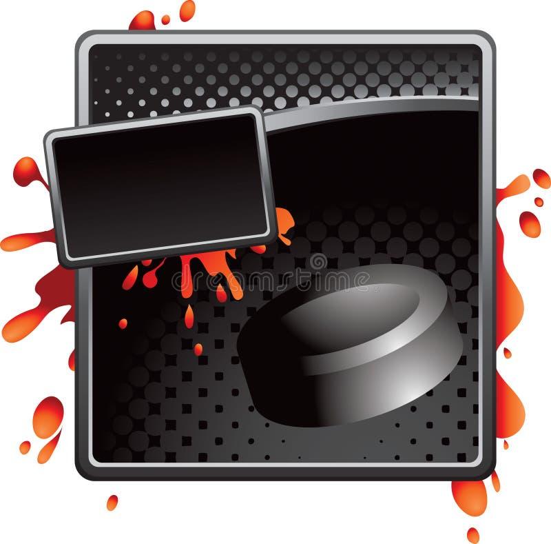 шайба хоккея halftone рекламы черная иллюстрация штока