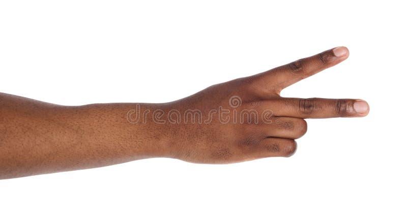 Шайка бандитов при 2 пальца вверх изолированного на белизне стоковая фотография rf