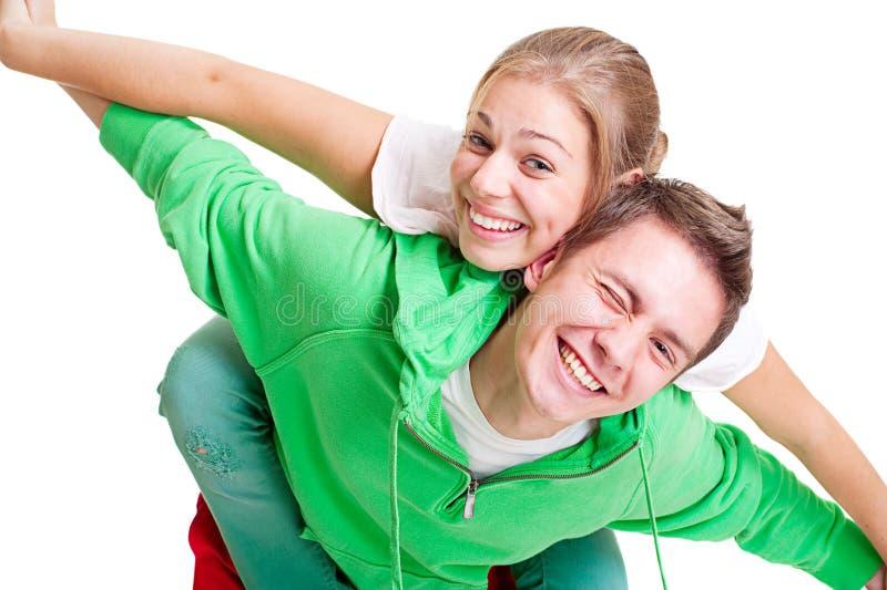 шаловливое пар счастливое стоковое фото rf