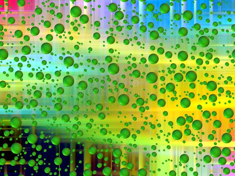 Шаловливые зеленые пузыри, геометрия, абстрактная предпосылка, графики, абстрактная предпосылка и текстура иллюстрация вектора