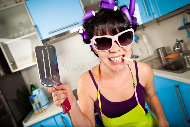 шальная домохозяйка стоковое изображение rf