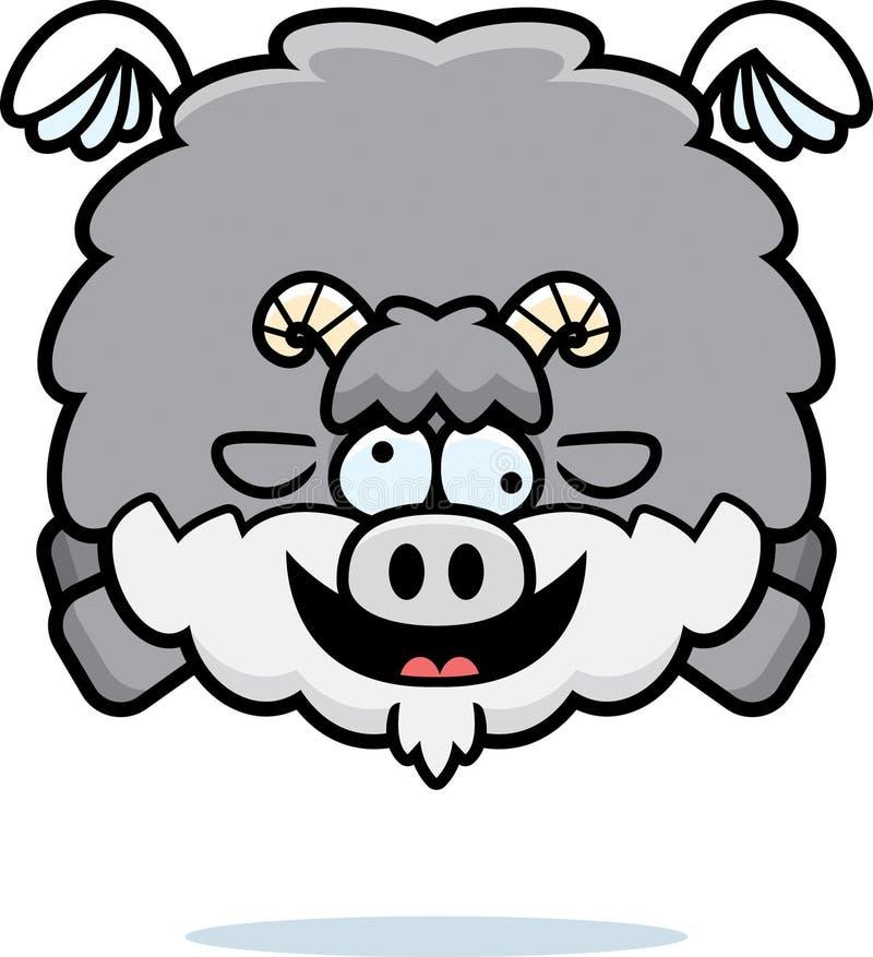 Шальная коза шаржа бесплатная иллюстрация