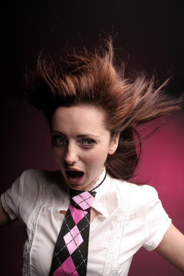 шальная кричащая женщина стоковые фото