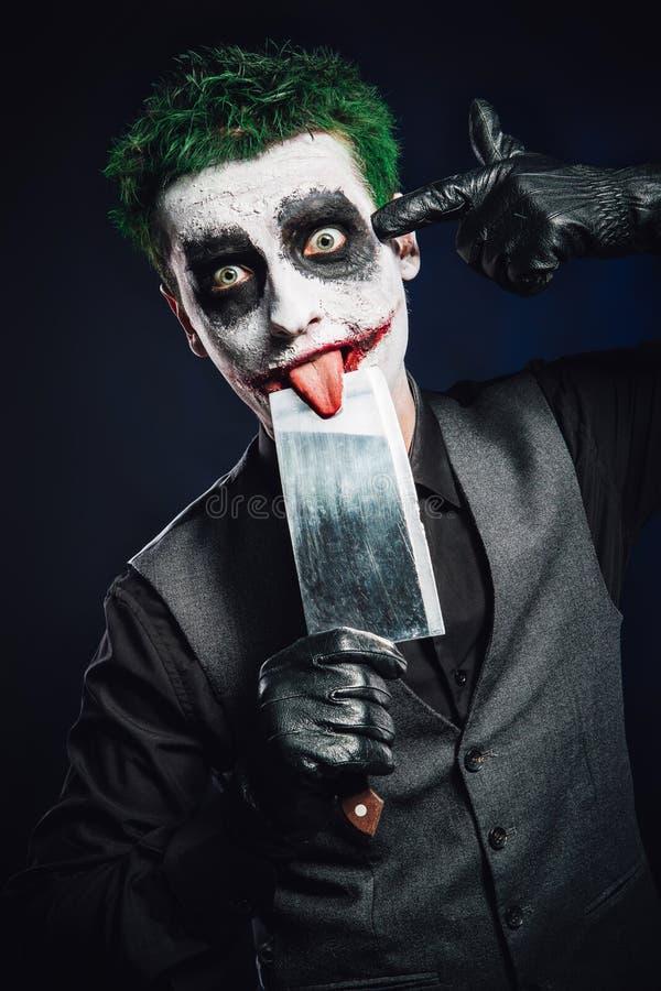 Шальная сторона шутника halloween стоковое фото