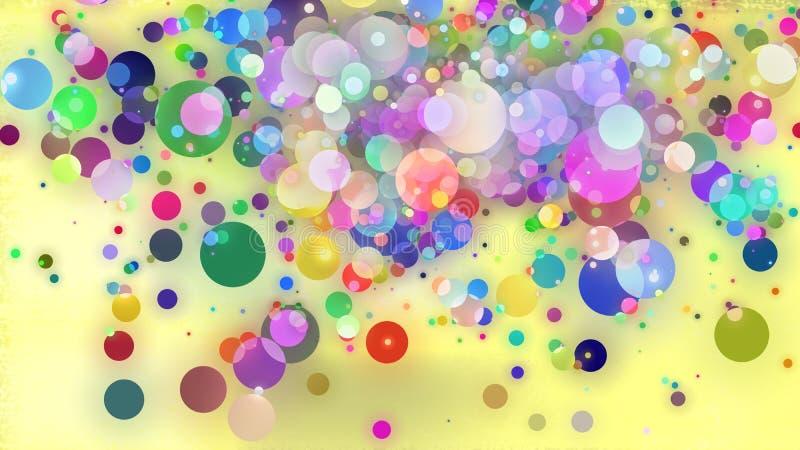 Шальные шарики в цвете иллюстрация вектора