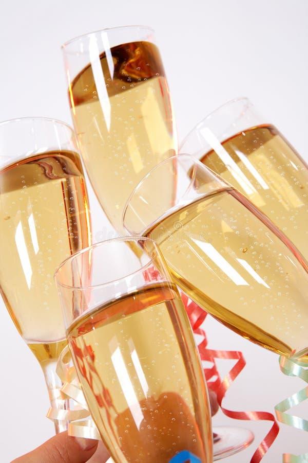шампанские clinking стоковые фотографии rf