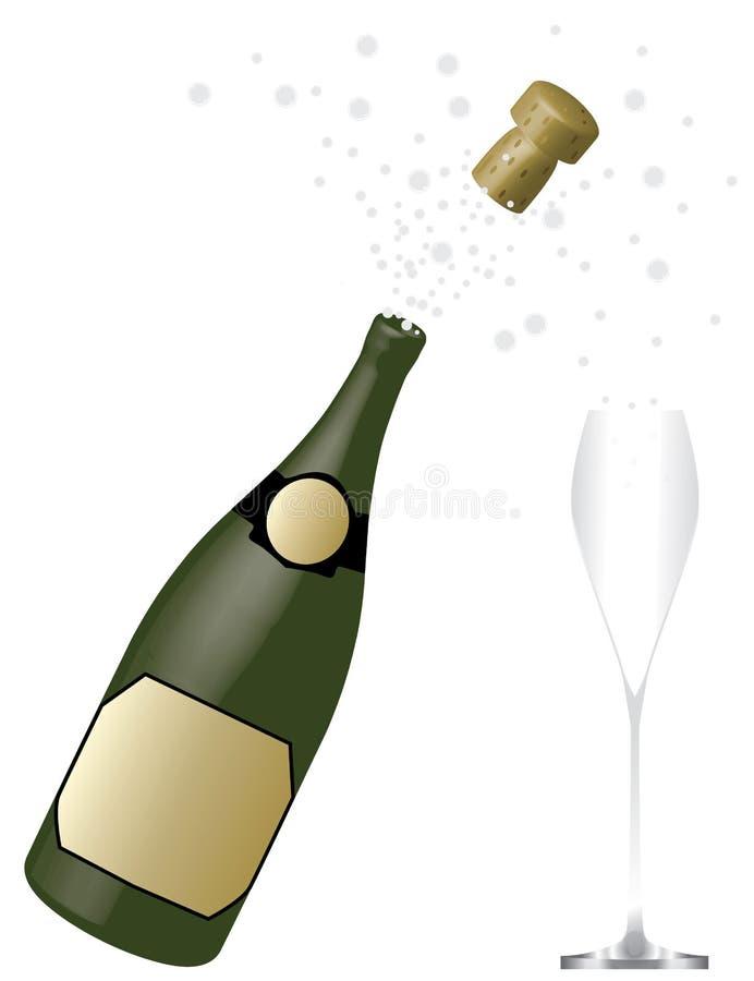 шампанское бутылки иллюстрация вектора