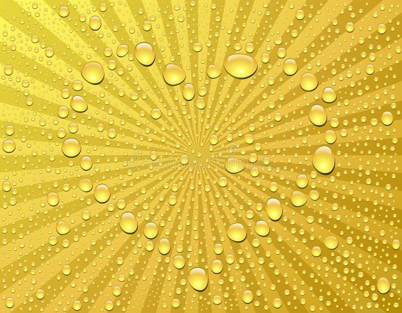 шампанское падает сердце иллюстрация вектора