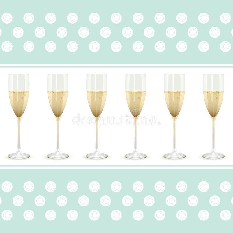 шампанское предпосылки бесплатная иллюстрация