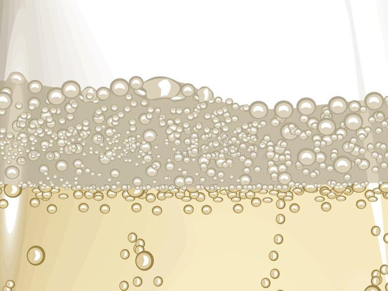 шампанское пузыря иллюстрация вектора