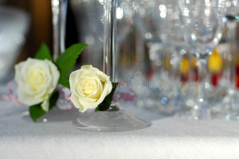 шампанское украсило стекло стоковое фото rf