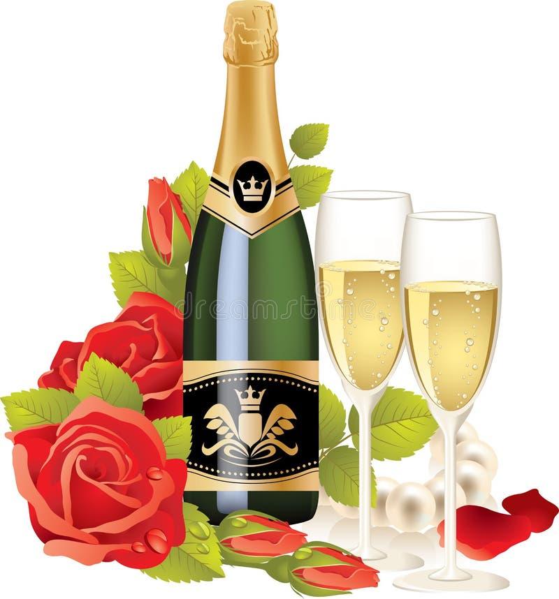 шампанское иллюстрация вектора