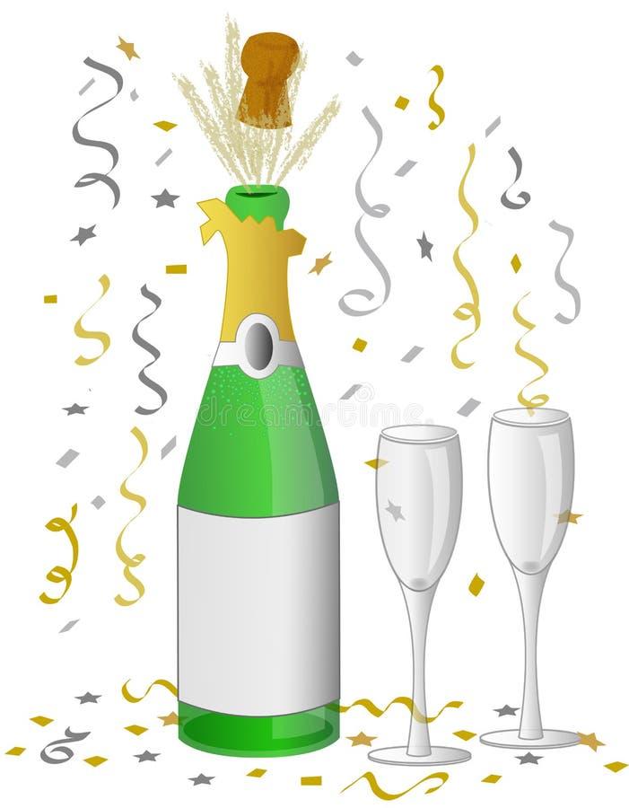 шампанское eps торжества иллюстрация вектора