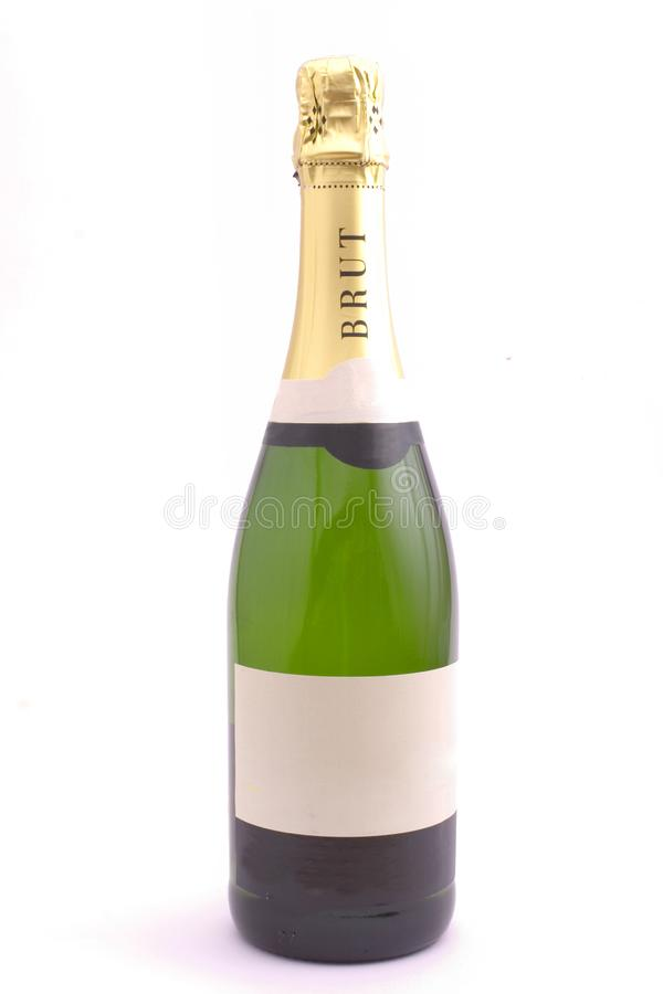 Шампань на белизне стоковое фото rf
