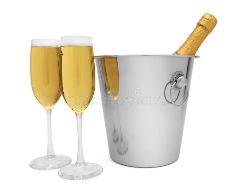 Шампань для 2 стоковое фото