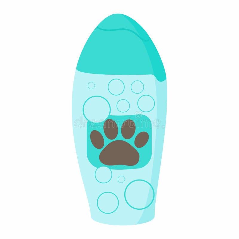 Шампунь для животных значка, стиля шаржа иллюстрация штока