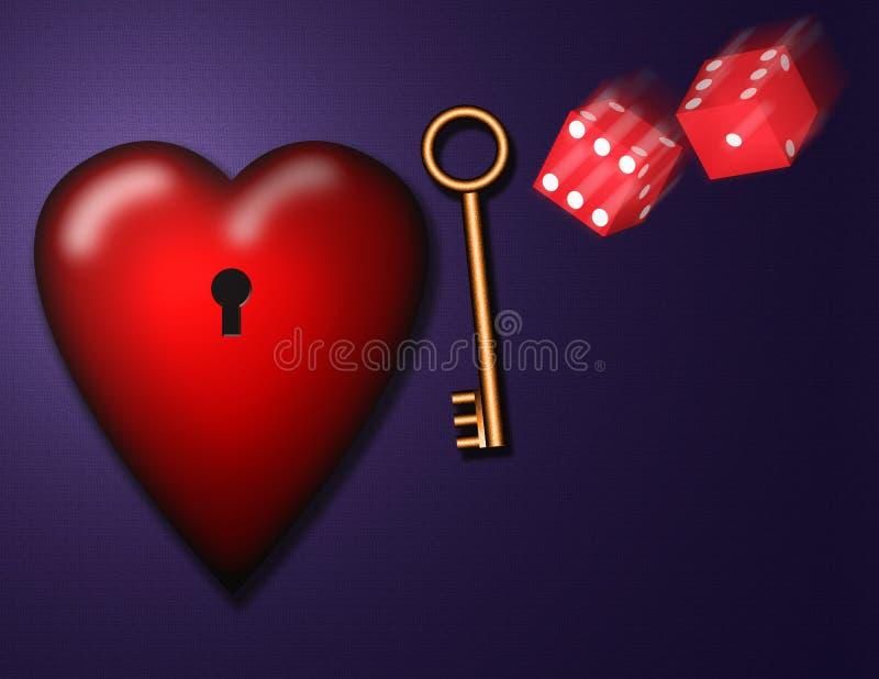 Шанс влюбленности иллюстрация вектора