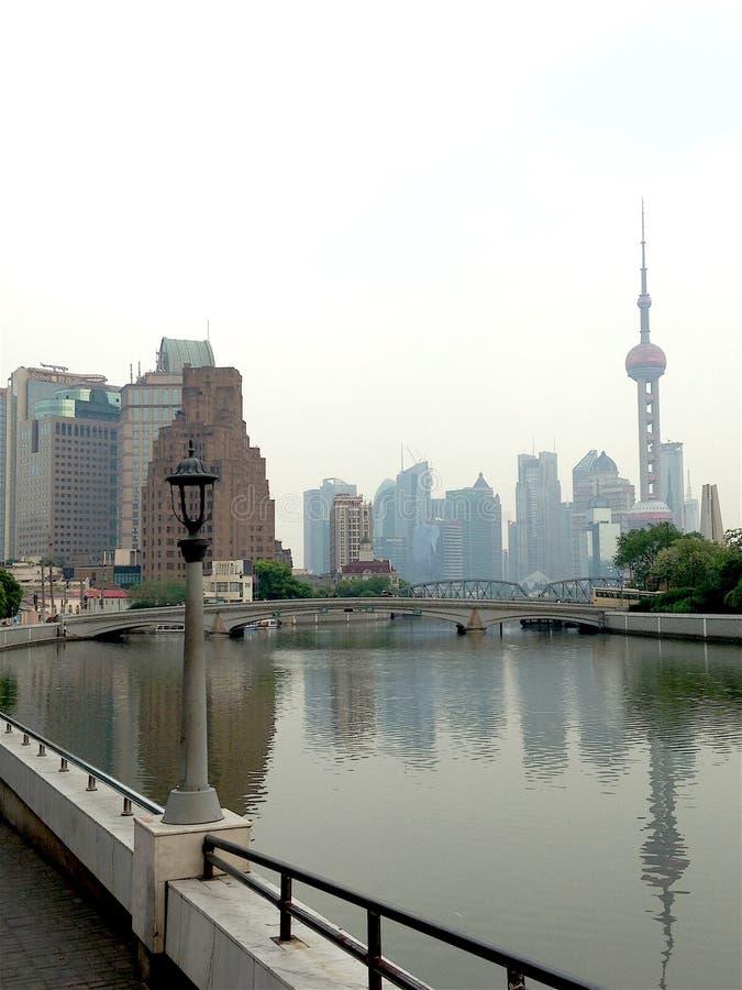 Шанхай, район Huangpu стоковая фотография