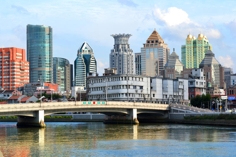 Шанхай Река Suzhou Редакционное Фото
