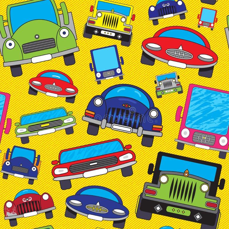 шарж автомобилей иллюстрация штока