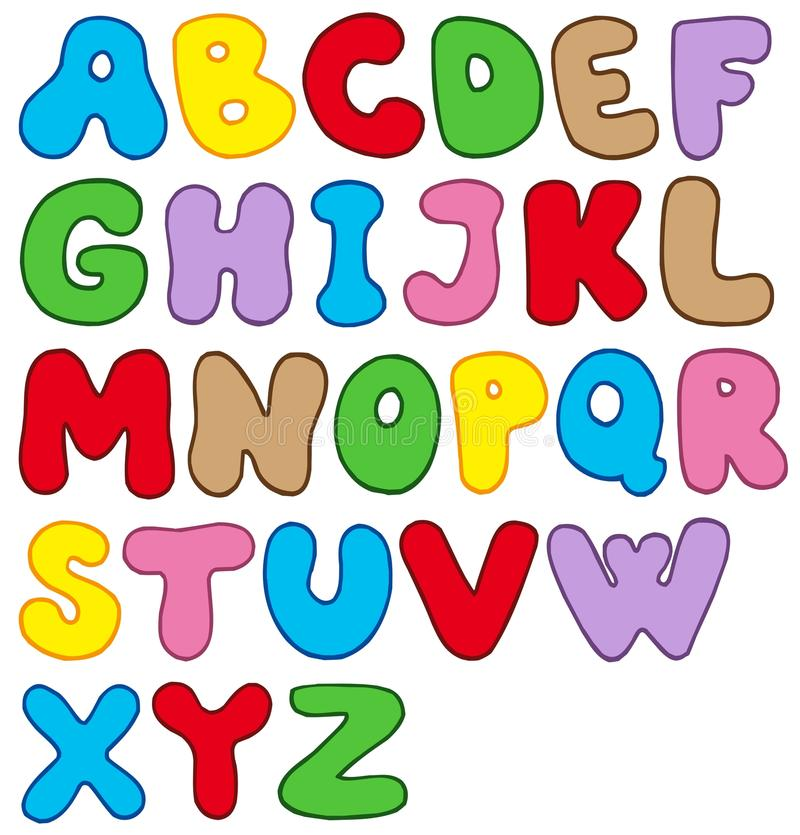 шарж алфавита бесплатная иллюстрация