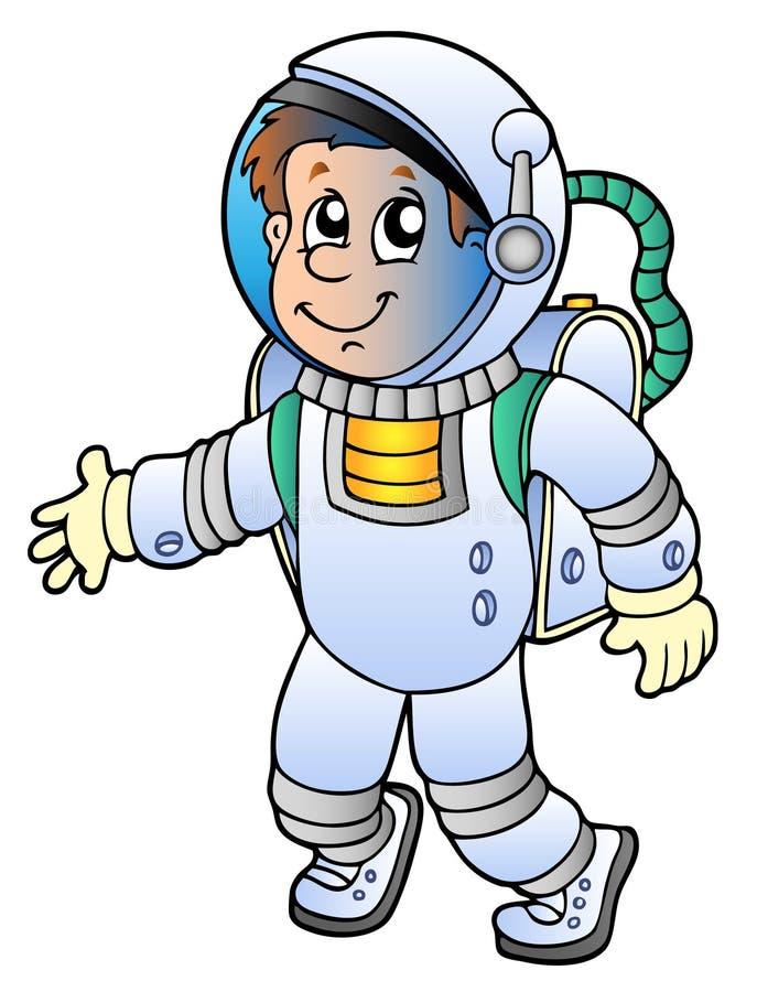 шарж астронавта иллюстрация вектора