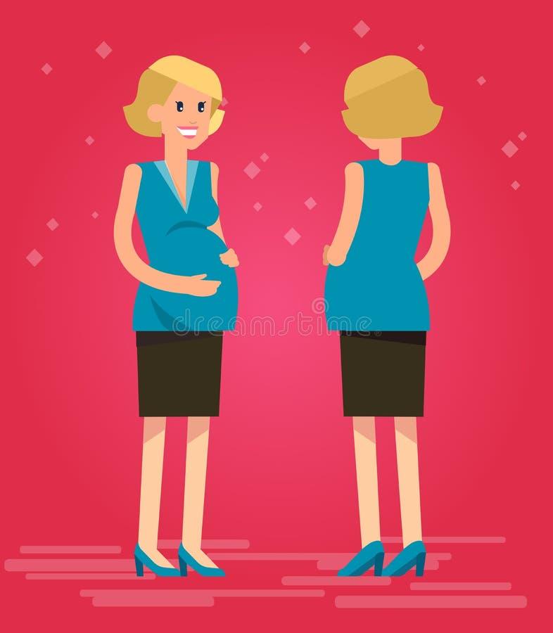 Шарж беременной женщины бесплатная иллюстрация