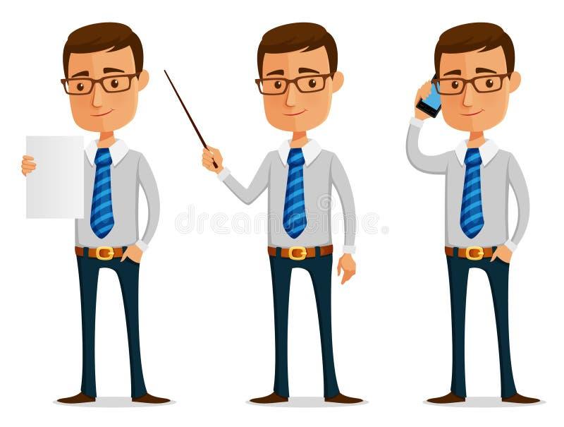 шарж бизнесмена смешной бесплатная иллюстрация