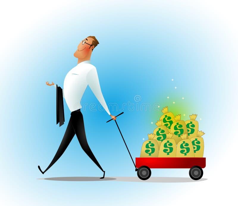 шарж бизнесмена счастливый бесплатная иллюстрация