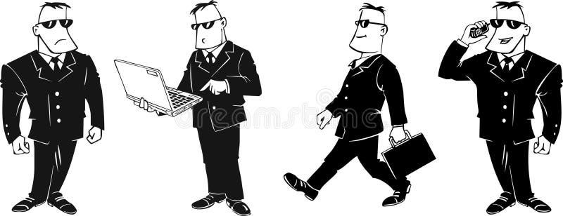 шарж бизнесмена иллюстрация вектора