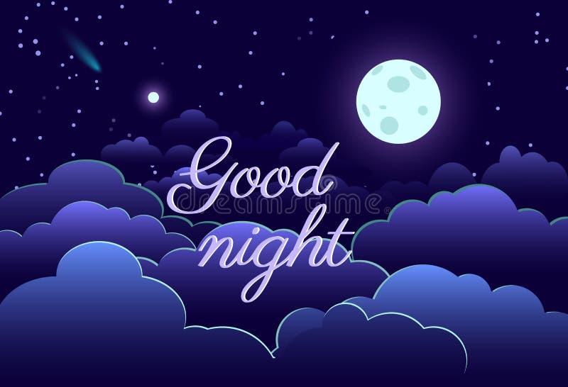 Шарж бумаги звезды луны дизайна искусства ночного неба иллюстрация штока