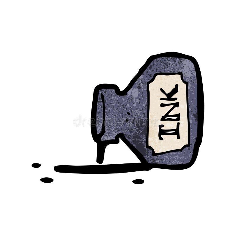 шарж бутылки чернил иллюстрация штока