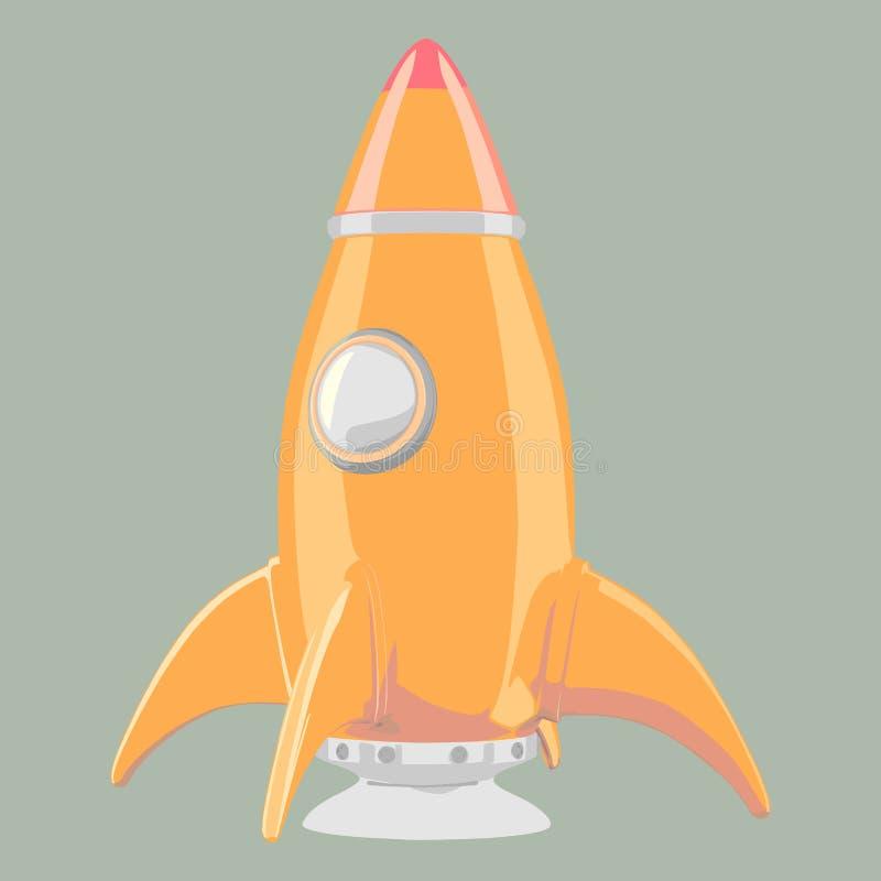 Шарж-введенная в моду ракета бесплатная иллюстрация