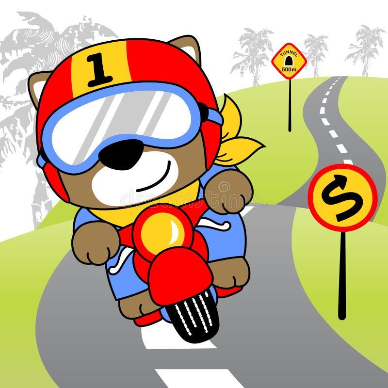 Шарж велосипедиста иллюстрация штока