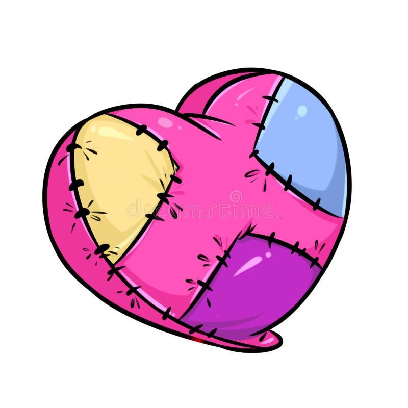 Шарж влюбленности разбитого сердца несчастный иллюстрация штока