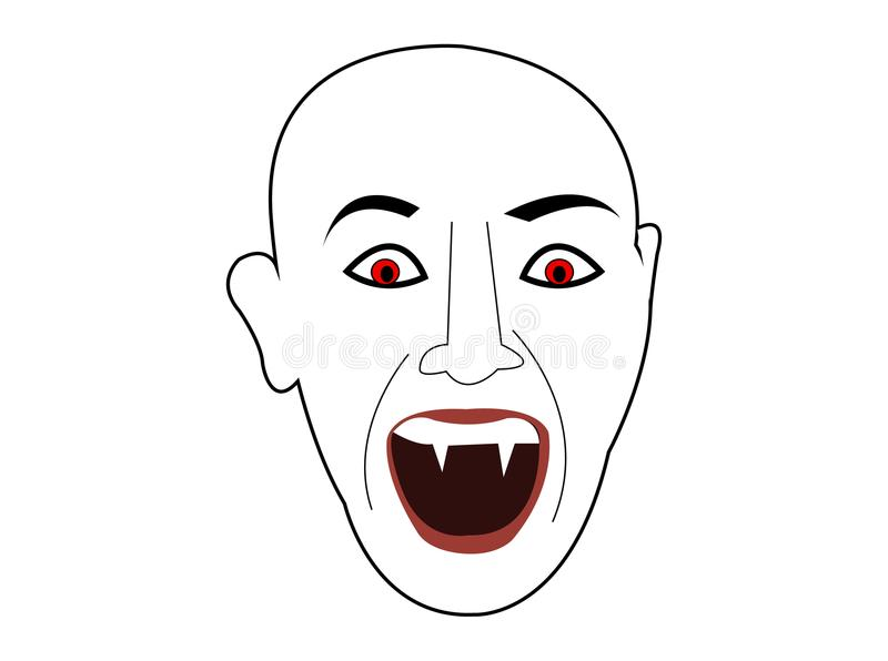 Шарж головы стороны demond вампира иллюстрация штока