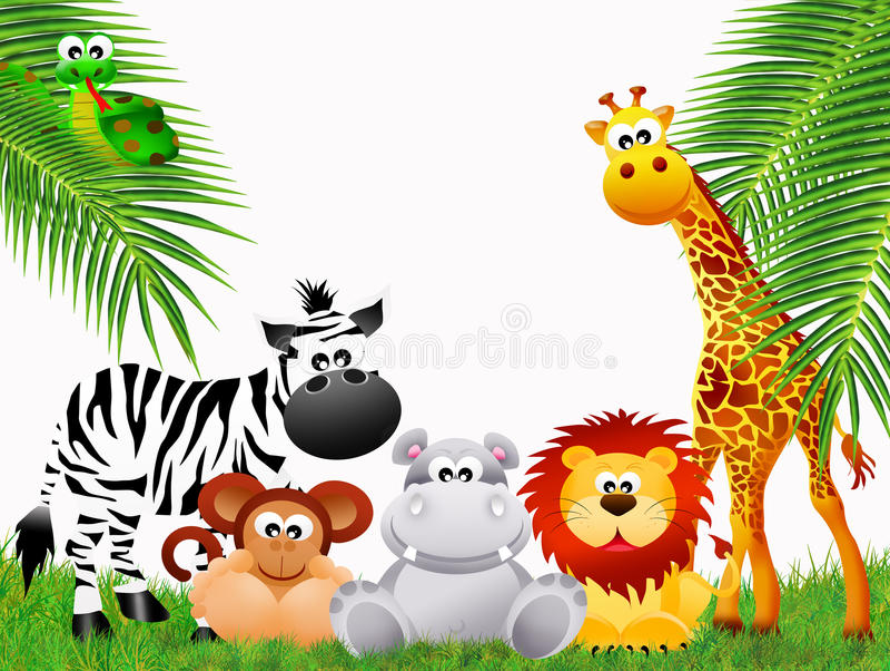 Шарж животных зоопарка стоковые изображения