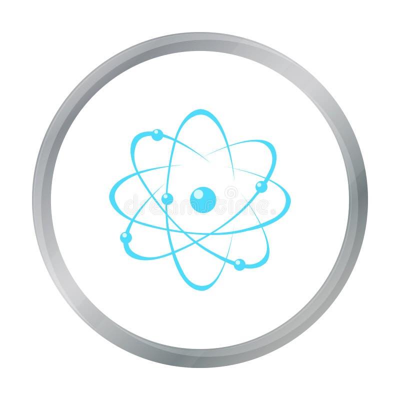 Шарж значка атома Одиночный значок от большой школы, шарж образования университета иллюстрация вектора