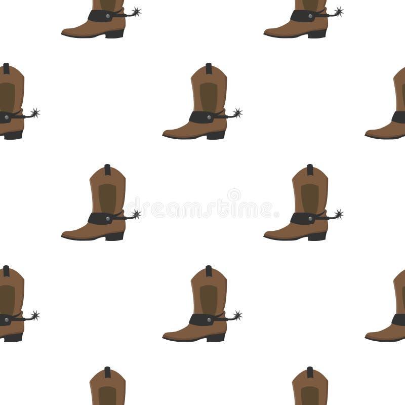 Шарж значка ботинка ковбоя Значок Singe западный от шаржа Диких Западов бесплатная иллюстрация