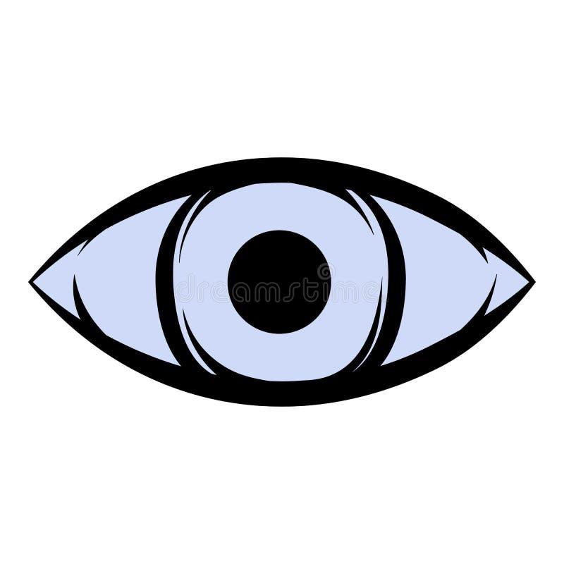 Шарж значка всевидящего ока иллюстрация штока