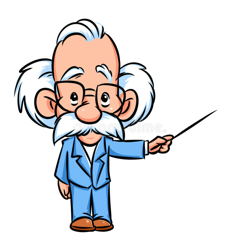 Шарж иллюстрации лектора профессора бесплатная иллюстрация
