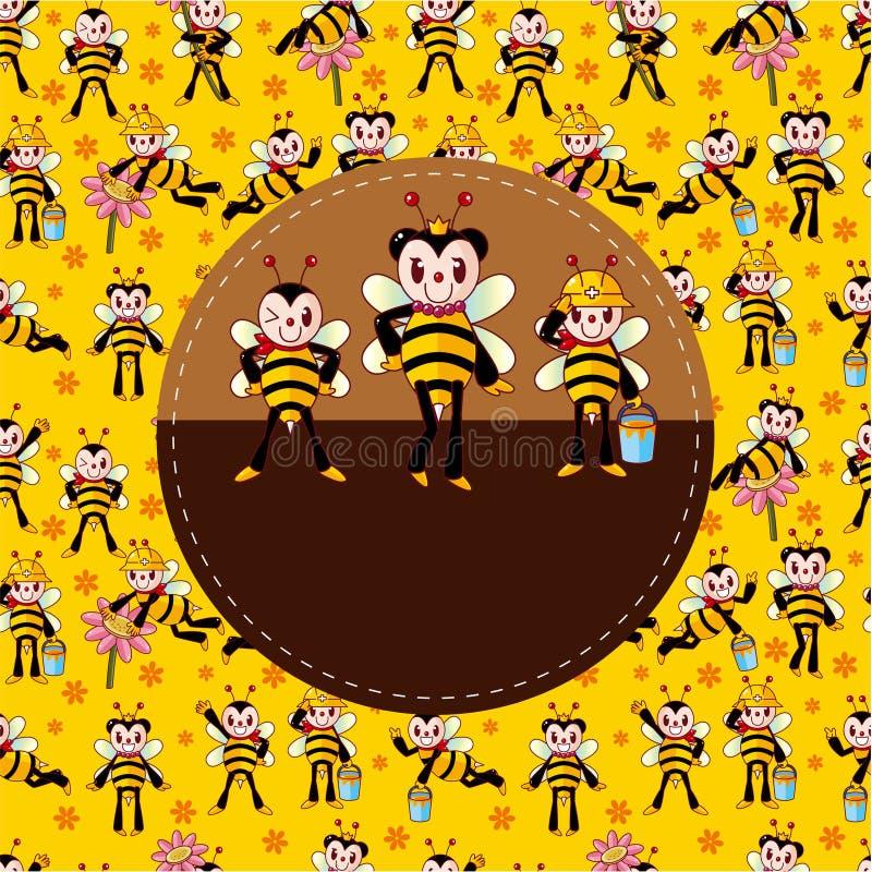 шарж карточки пчелы бесплатная иллюстрация