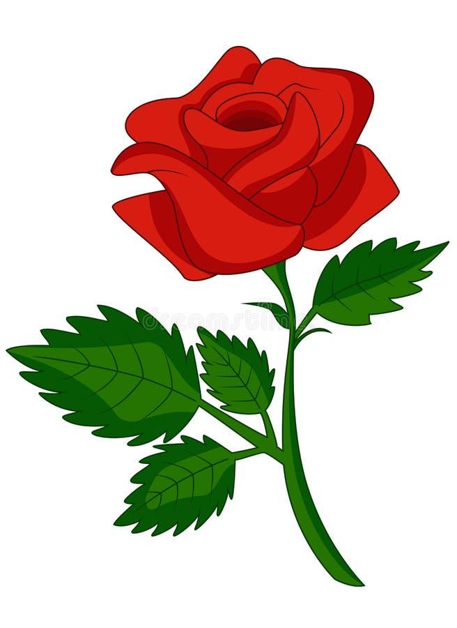 Шарж красной розы иллюстрация вектора