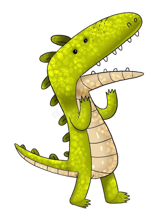 Шарж крокодила стоковое изображение