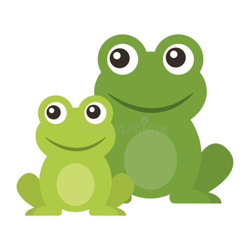 Шарж лягушки милый животный сидя бесплатная иллюстрация