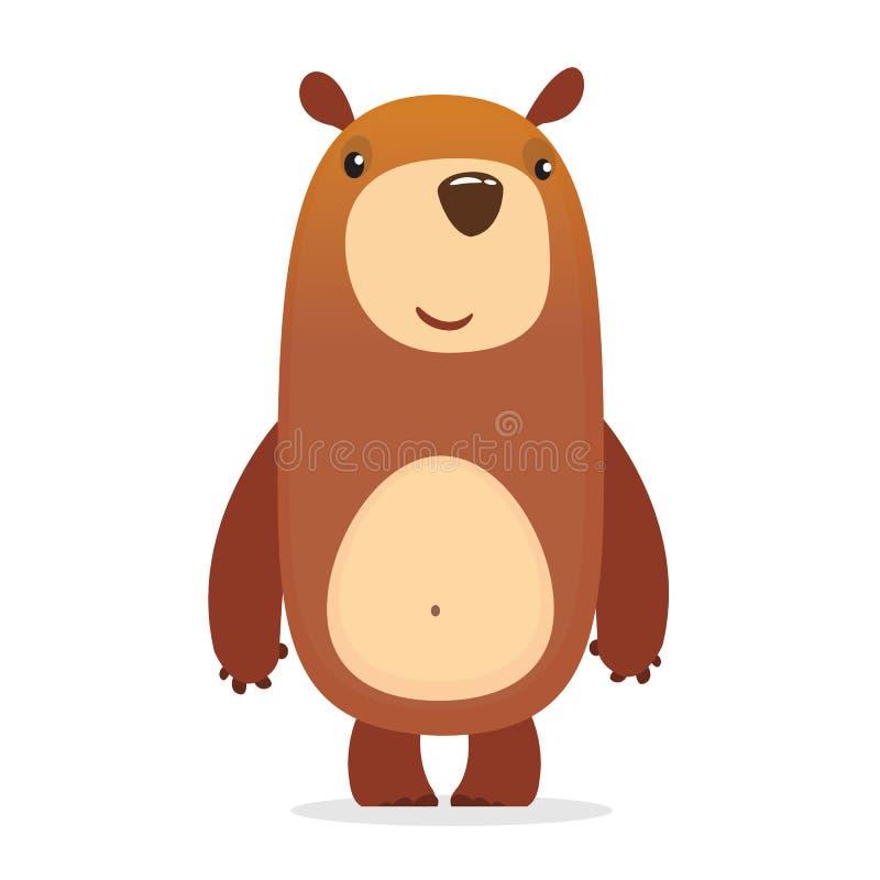 шарж медведя милый также вектор иллюстрации притяжки corel иллюстрация штока
