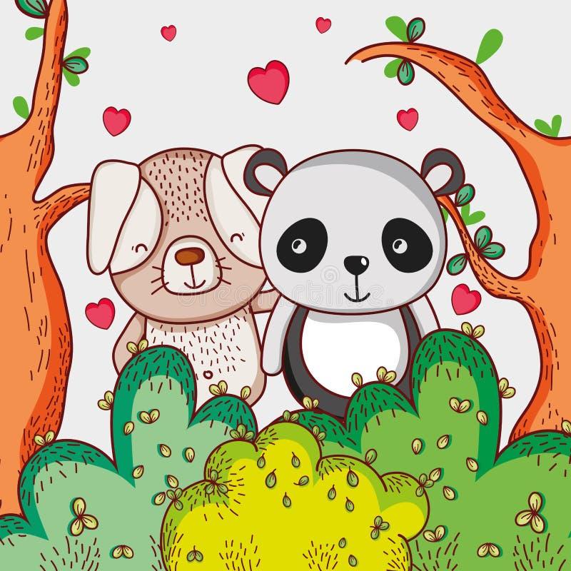 панда и заяц вместе картинки время