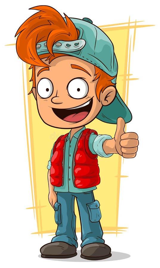 Шарж меньший мальчик redhead бесплатная иллюстрация