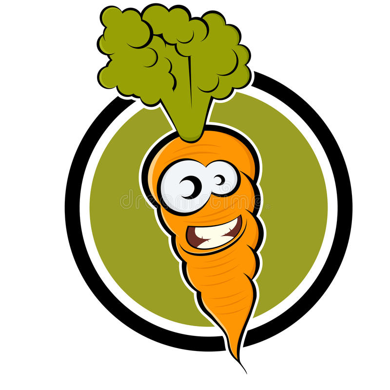 шарж моркови значка иллюстрация вектора