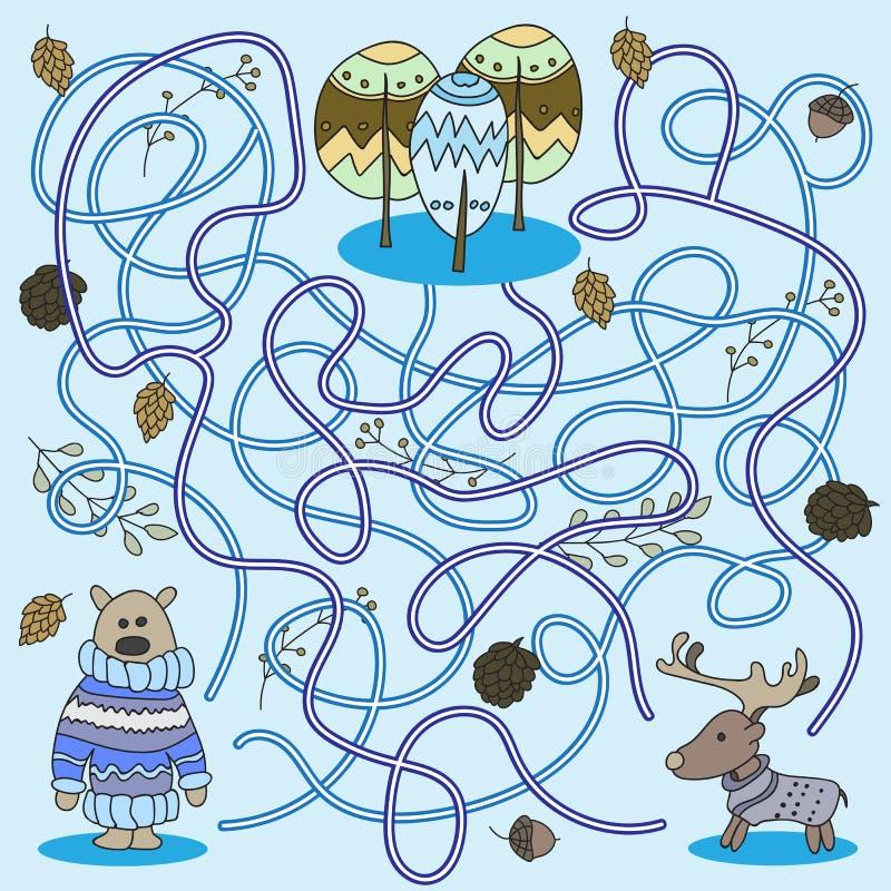 Шарж образования - игры для детей дошкольного возраста вектор иллюстрация штока